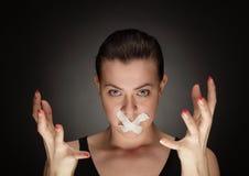 沉默 免版税图库摄影