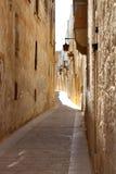沉默城市姆迪纳,街道视图,马耳他 库存图片