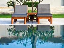 沐浴椅子huahin手段星期日泰国 库存照片