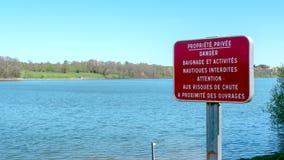 沐浴禁止标志使用在法国 免版税库存照片