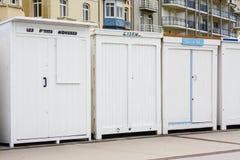 沐浴配件箱在法国 免版税库存照片