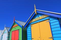沐浴箱子澳大利亚的墨尔本海滩 库存照片