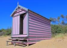 沐浴箱子澳大利亚的墨尔本海滩 库存图片