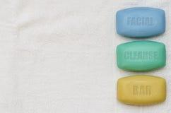 沐浴集合03被标记的肥皂 免版税图库摄影