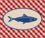 沙丁鱼的葡萄酒例证 库存图片