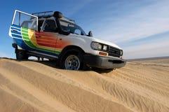 沙丘乘驾 图库摄影