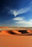 沙丘和天空 图库摄影