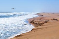 沙丘和海 库存照片
