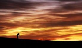 沙丘在撒哈拉大沙漠,摩洛哥 库存照片