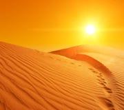 沙丘在撒哈拉大沙漠 免版税图库摄影