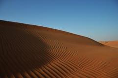 沙丘在沙漠,迪拜,阿拉伯联合酋长国 免版税库存照片