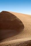 沙丘在沙漠 库存图片