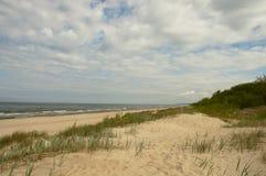 沙丘在波罗的海 免版税库存图片