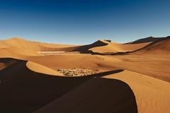 沙丘在纳米比亚沙漠 库存照片