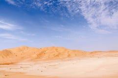 沙丘在阿曼沙漠(阿曼) 免版税库存图片