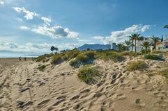 沙丘在马尔韦利亚 库存图片
