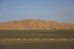 沙丘尔格Chebbi,撒哈拉大沙漠 图库摄影