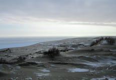 沙丘展望期kosa kurshskaya俄国沙子跨步舒展 免版税库存图片