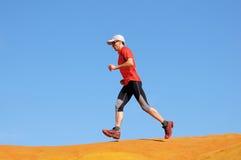 沙丘慢跑者 免版税库存照片