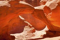 沙丘曲拱岩石峡谷拱门国家公园默阿布犹他 免版税库存图片