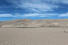 沙丘极大的国家公园蜜饯沙子 库存照片
