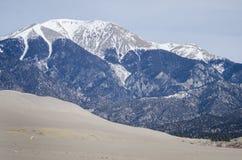 沙丘极大的国家公园蜜饯沙子 免版税库存照片