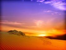 沙丘横向沙子 免版税库存照片