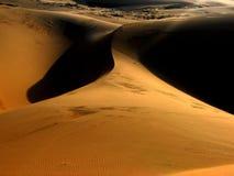沙丘沙子日出 库存照片