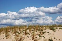 沙丘法国极大的pyla沙子天空 库存图片