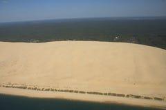 沙丘海洋天空 库存照片