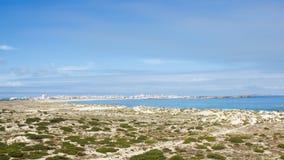 沙丘海洋在大西洋边缘的 免版税库存照片