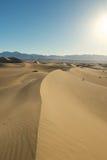 沙丘的两个远足者 库存照片
