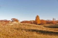 沙丘看法在10月早晨 库存照片