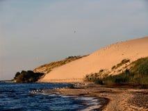 沙丘立陶宛nida parnidis 库存图片