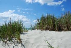 沙丘脚印沙子 库存图片