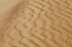 沙丘起波纹的沙子 免版税图库摄影