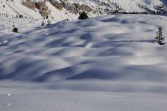 沙丘雪 免版税库存照片