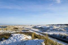 沙丘风景在丹麦 免版税图库摄影