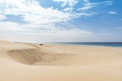 沙丘Praia de圣诞老人MA ³ nica博阿维斯塔 库存照片