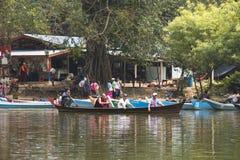 沙丹洞在Hpa-An,缅甸 免版税库存照片