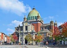 沙勒罗瓦和圣徒克里斯托夫教会的中心 库存图片
