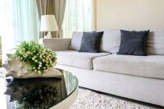 沙发和枕头 免版税库存图片