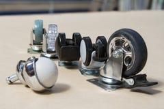 沙发和桌的轮子 家具的路辗 免版税图库摄影