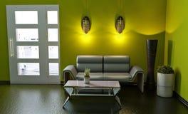 沙发和白色门 库存图片