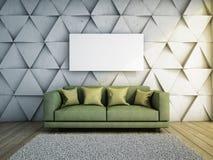 沙发在客厅 免版税库存照片