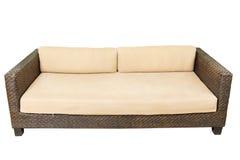沙发家具织法竹子椅子 免版税库存照片