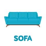 沙发平的设计传染媒介例证 库存图片