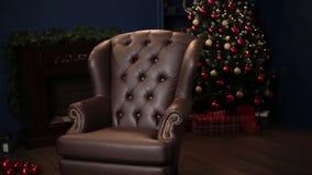 沙发椅子,布朗皮革背景典雅的饱和的光滑的金皮革纹理  影视素材