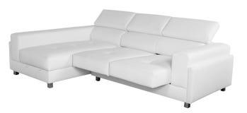 沙发白色 裁减路线 库存照片