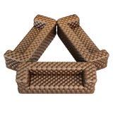 沙发皮革样式褐色 免版税库存照片
